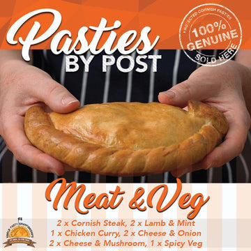 Meat and Veg Pasties by Post (10) - Proper Pasty Company