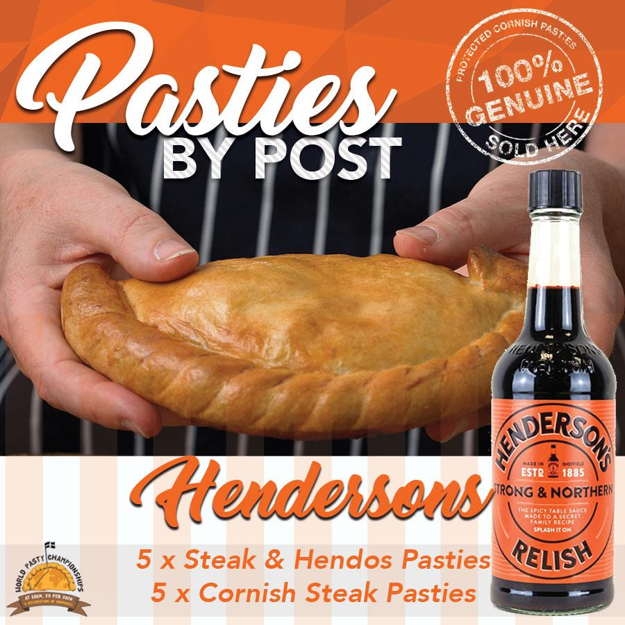 Steak & Hendersons Pasties by Post (10) - Proper Pasty Company