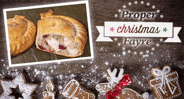 Turkey and Cranberry Pasty 283g. (36 No. Boxed) - Proper Pasty Company