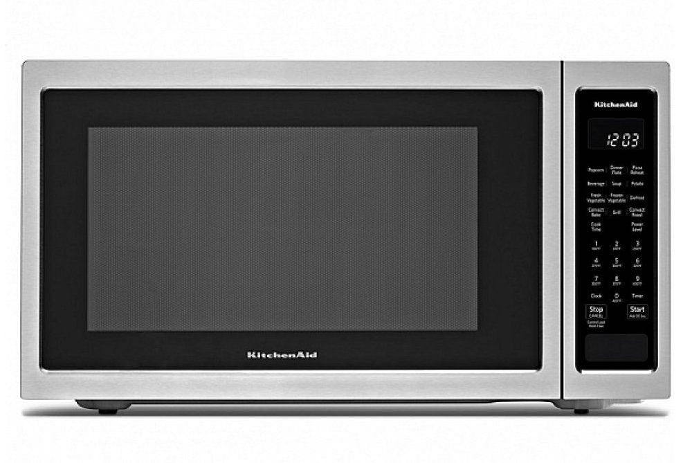 KitchenAid - 21 3/4 Inch Countertop Microwave with Convection - KMCC5015