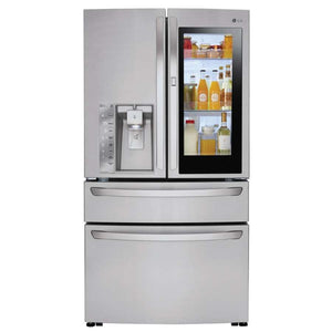 "LG - 36"" French Door Counter Depth Refrigerator With Insta-View - LMXS30796S"
