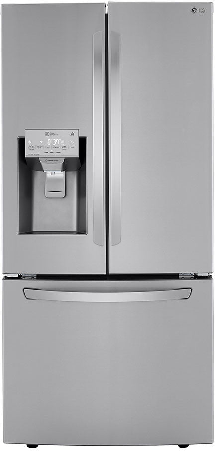"LG - 33"" French Door Refrigerator With Exterior Ice & Water Dispenser - LRFXS2503"