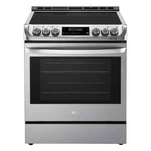 LG - 6.3 Cu.Ft Freestanding Electric Range With Warming Drawer - LSE5615ST