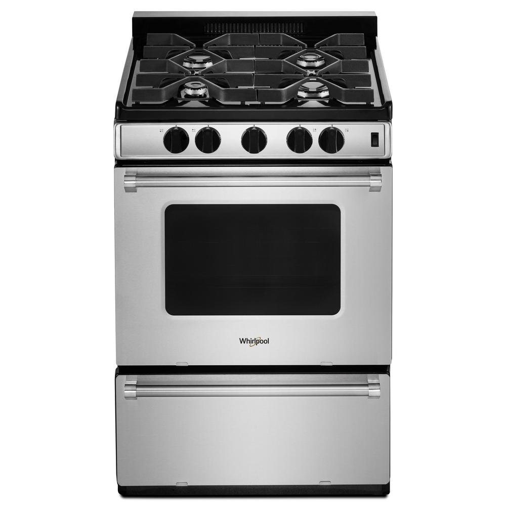 Whirlpool - 24-inch Freestanding Gas Range with Sealed Burners- WFG500M4HS