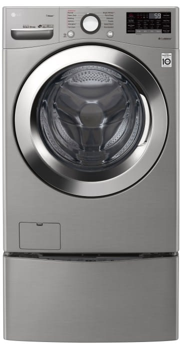 LG - High Efficiency Front Load Washing Machine With Steam Technology - WM3700HVA