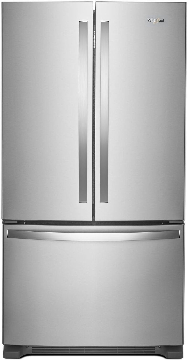 Whirlpool - 20 Cu. Ft. Counter Depth French Door Refrigerator - WRF540