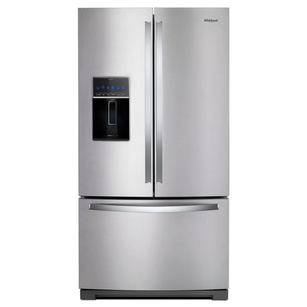 Whirlpool - 27 Cu. Ft. French Door Refrigerator With Store-Right System - WRF757