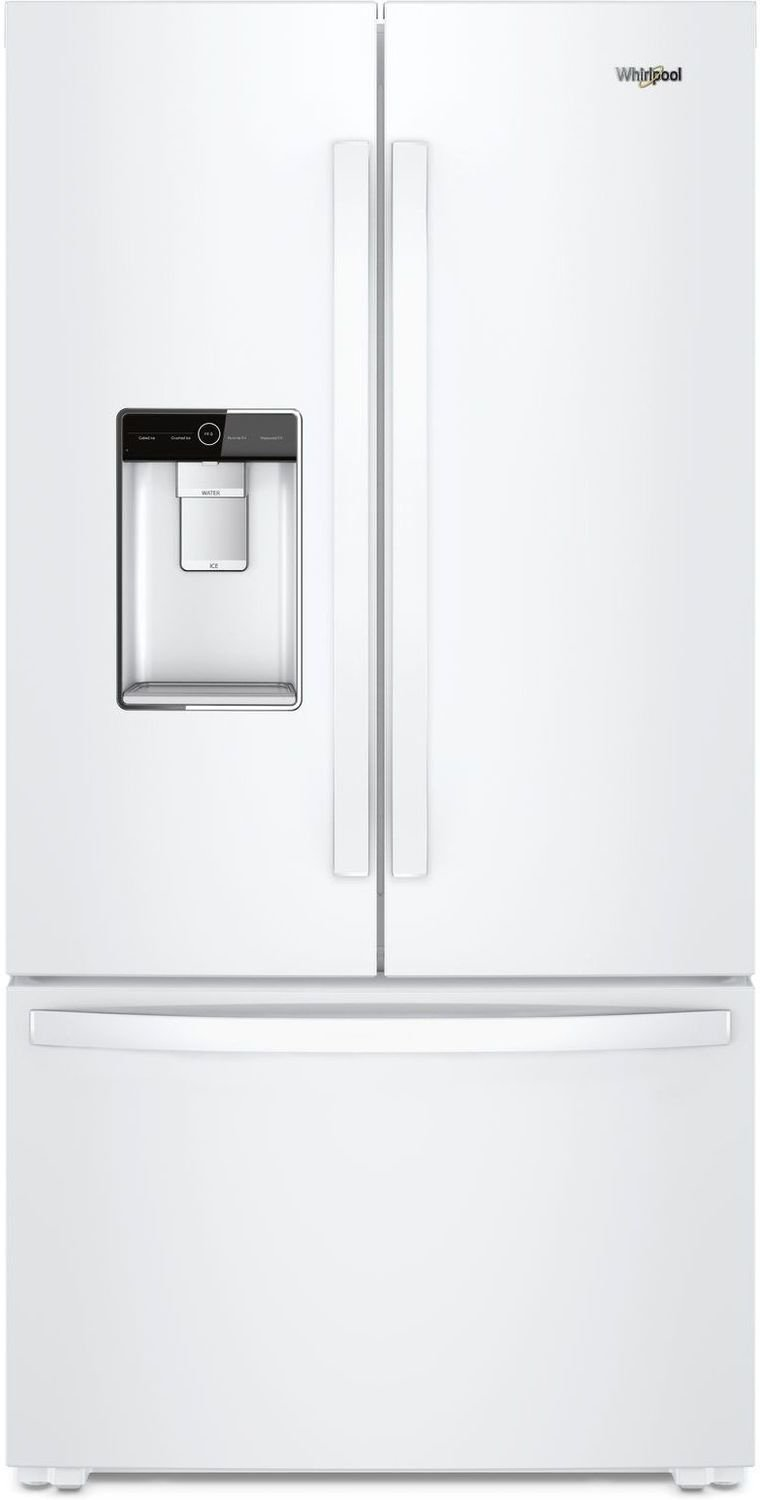 Whirlpool - 36-inch Wide Counter Depth French Door Refrigerator - 24 cu. ft. - WRF954