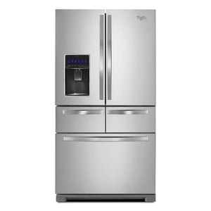 Whirlpool - 36-inch Wide 4-Door Refrigerator with Exterior Drawer - 26 cu. ft. - WRV986FDEM