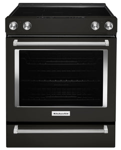 KitchenAid-30 Inches 5 Element Electric Slide-In Convection Range - YKSEG700