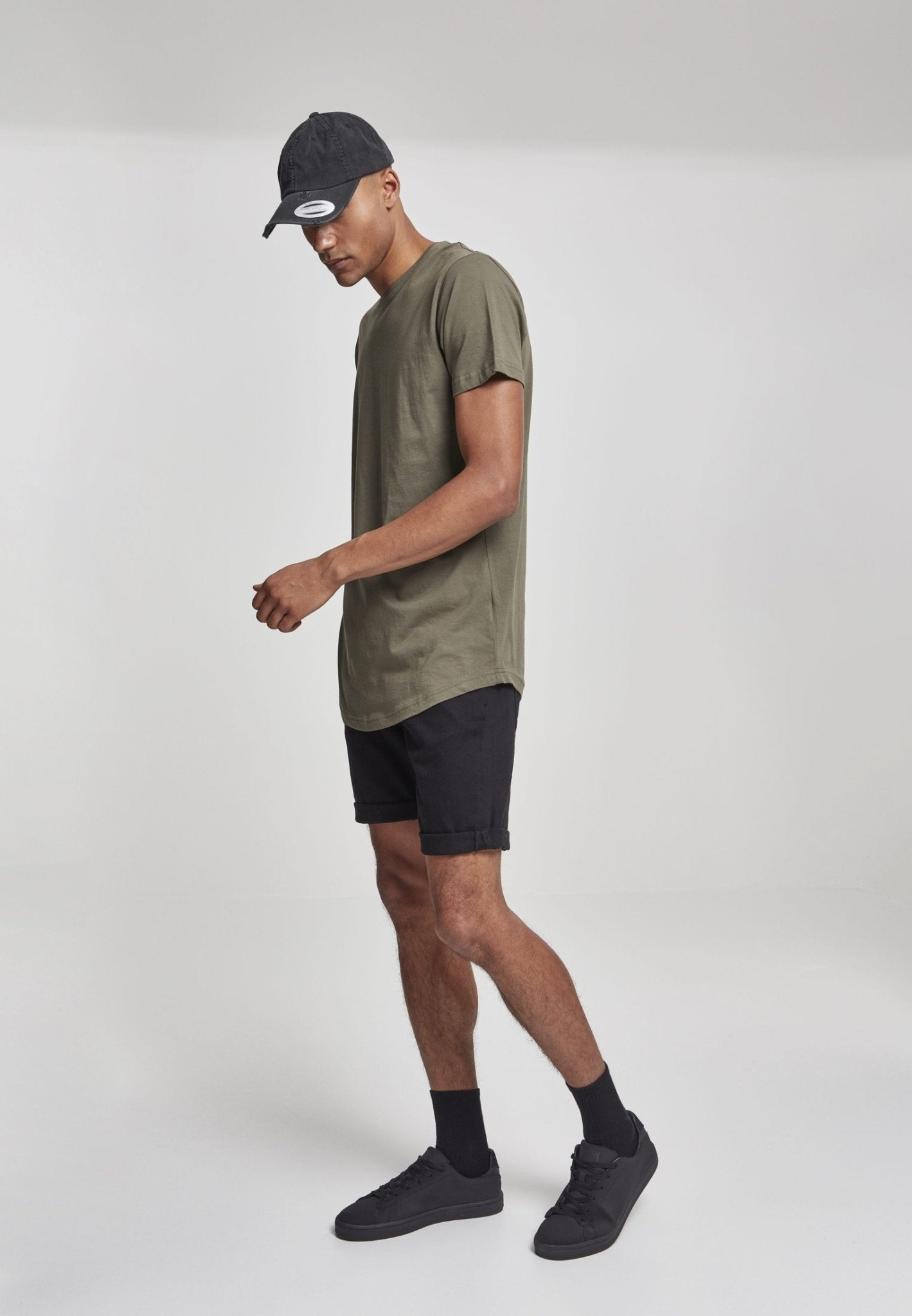Shaped Long Tee Olive - Inexorebel