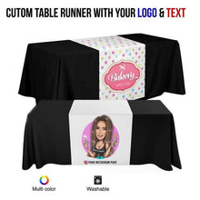 Load image into Gallery viewer, CUSTOM PRINTED TABLE RUNNER