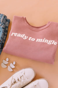 READY TO MINGLE WOMEN'S CROP SWEATSHIRT