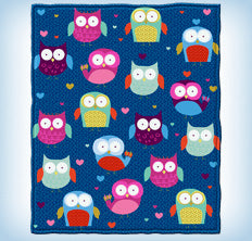 Fleece throw blankets
