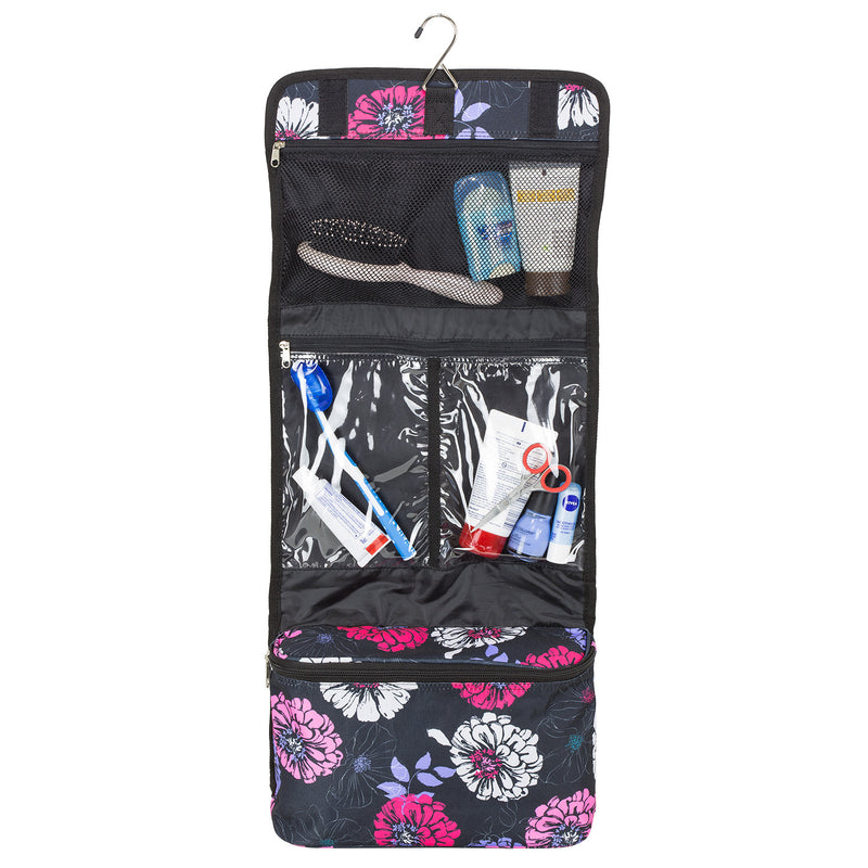 Floral Bloom Hanging Travel Organizer Toiletry Bag