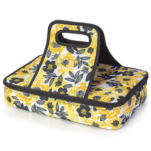Black and Yellow Casserole Travel Bag