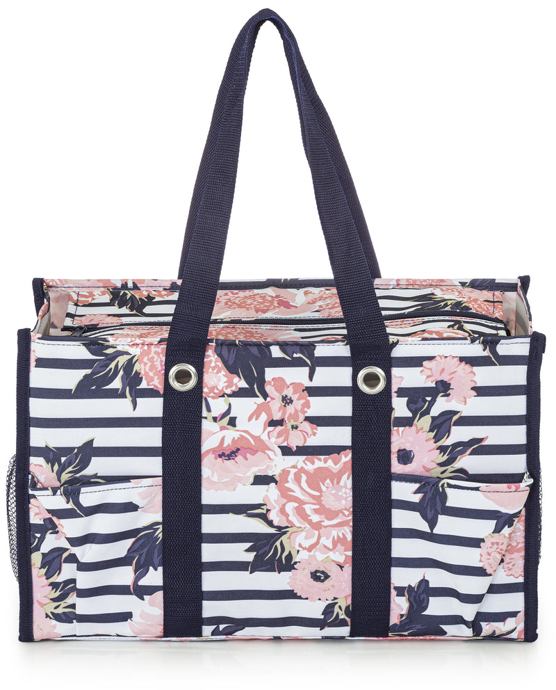 Vintage Floral All Purpose Utility Tote Bag
