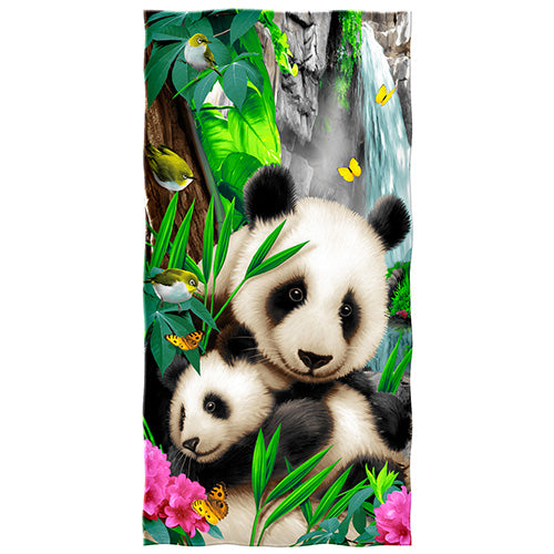 Precious Pandas Beach and Shower Towel
