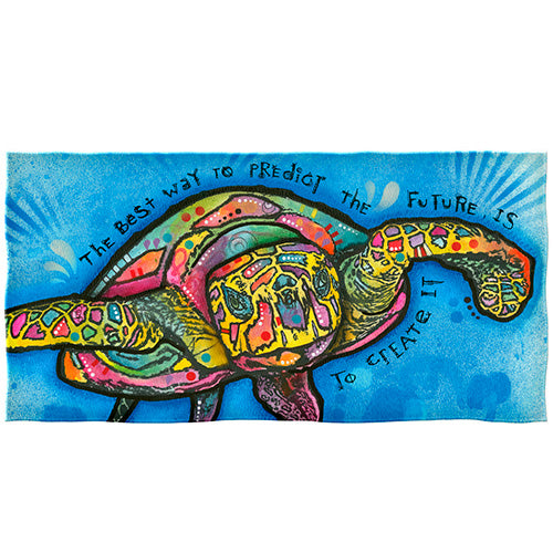 Sea Turtle Beach and Shower Towel by Dean Russo