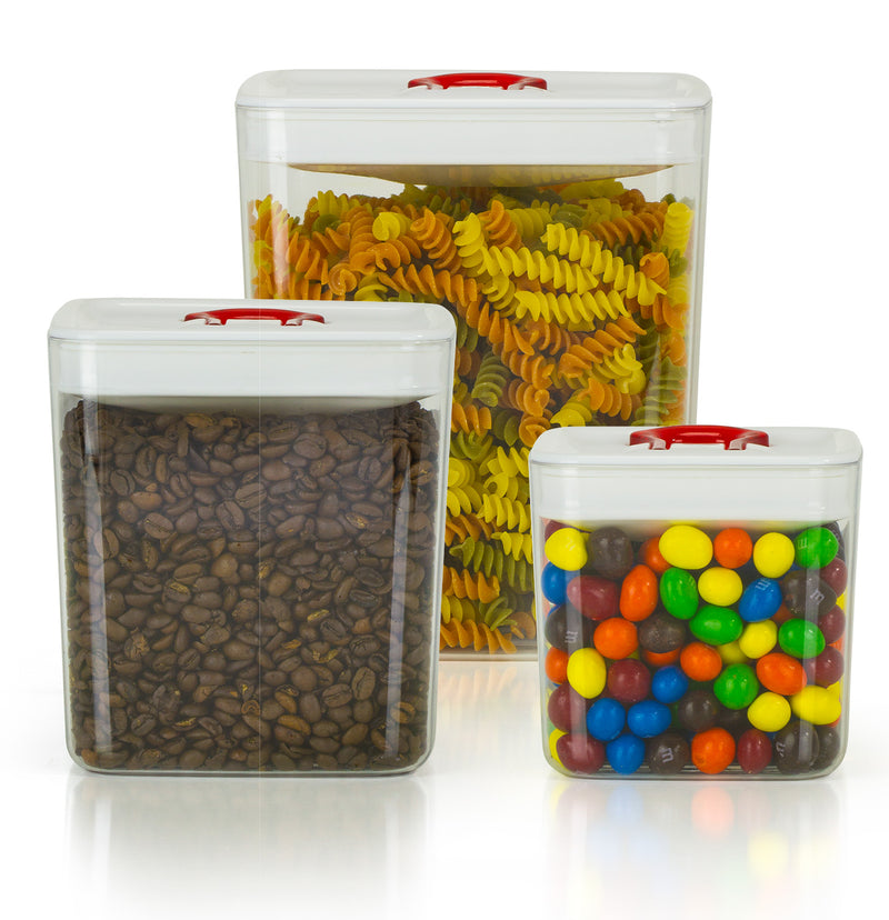 3 Piece Airtight Storage Canister Set