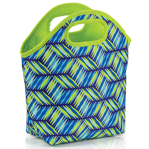 Geo Weave Insulated Lunch Tote Bag