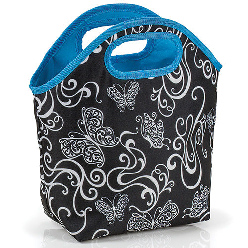 Butterfly Swirl Insulated Lunch Tote Bag