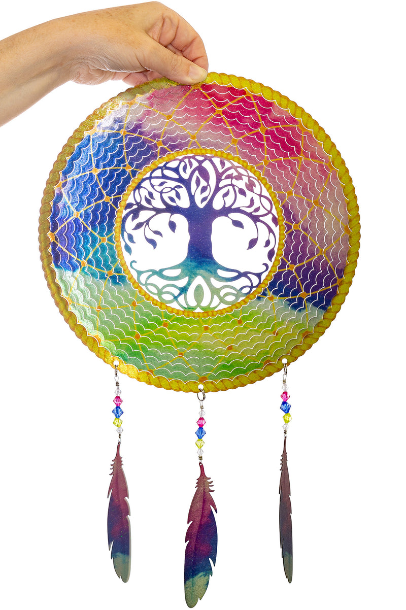Tree of Life Dreamcatcher Garden Wind Spinner