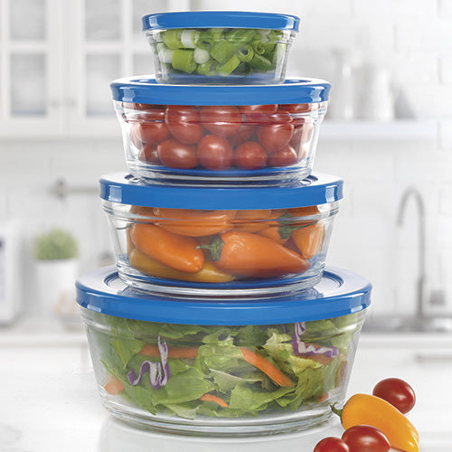 Glass Stackable Storage Bowls (Set of 4)