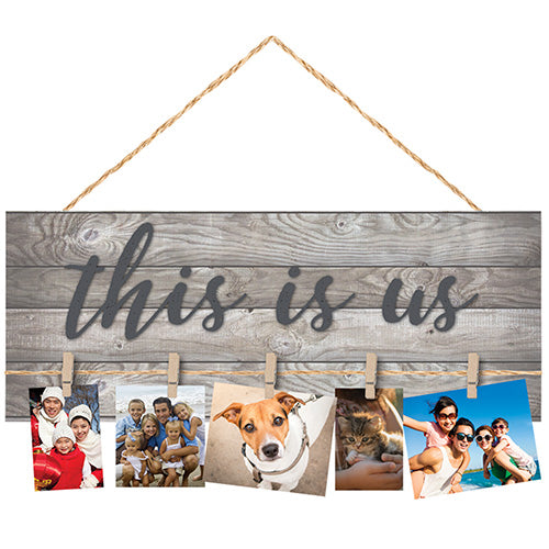 """This is Us"" Hanging Picture Plaque"
