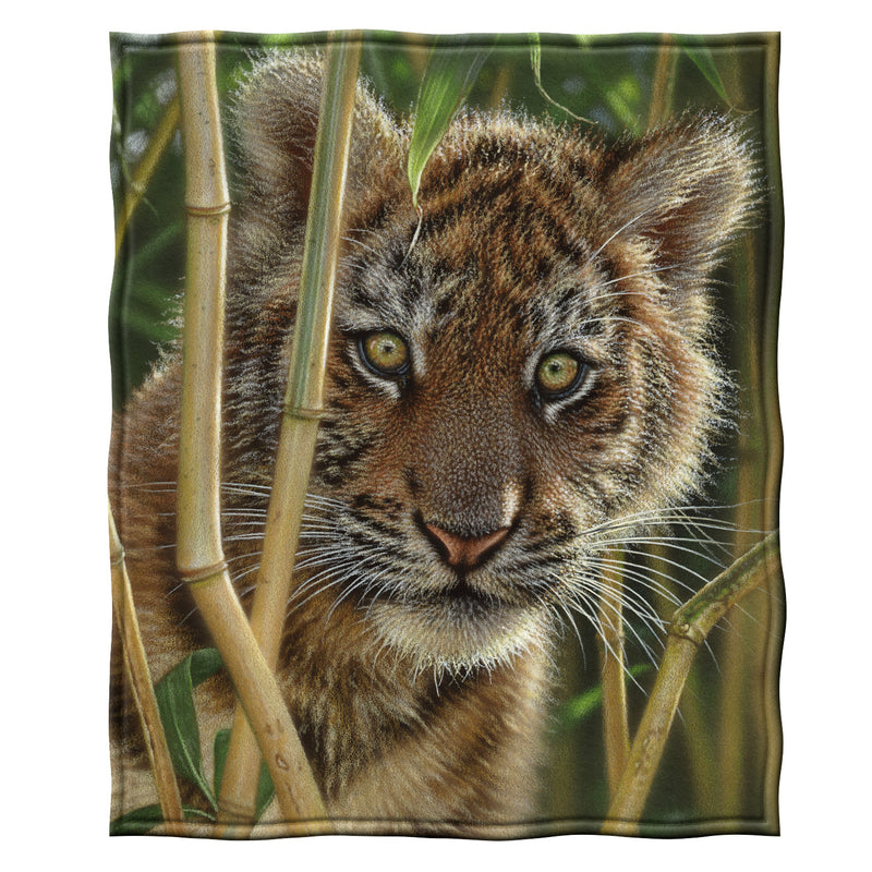 Tiger Club Fleece Throw Blanket