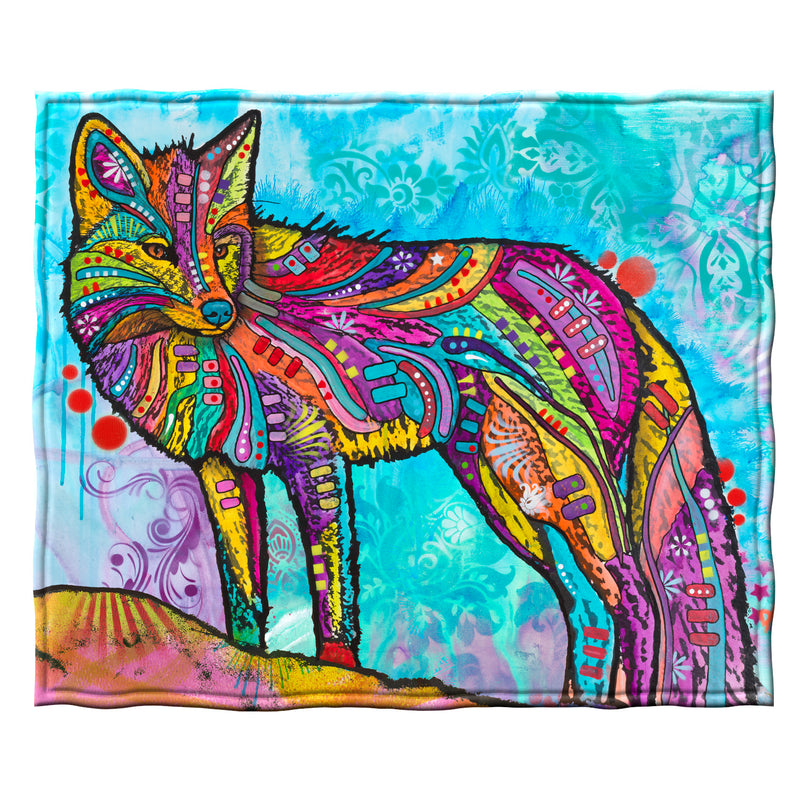 Fox Fleece Throw Blanket by Dean Russo