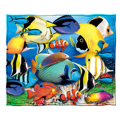 Tropical Fish Fleece Throw Blanket