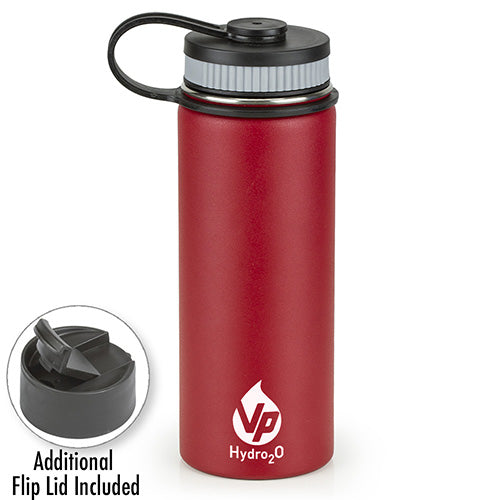 VP Hydro2O Red  Stainless Steel Water Bottle
