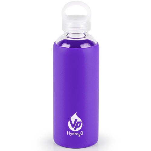 VP Hydro2O Purple  Glass Water Bottle