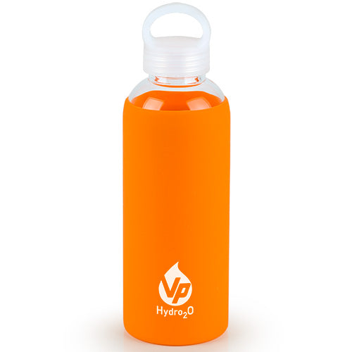 VP Hydro2O Orange Glass Water Bottle
