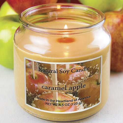 Caramel Apple Scented Natural Soy Candle