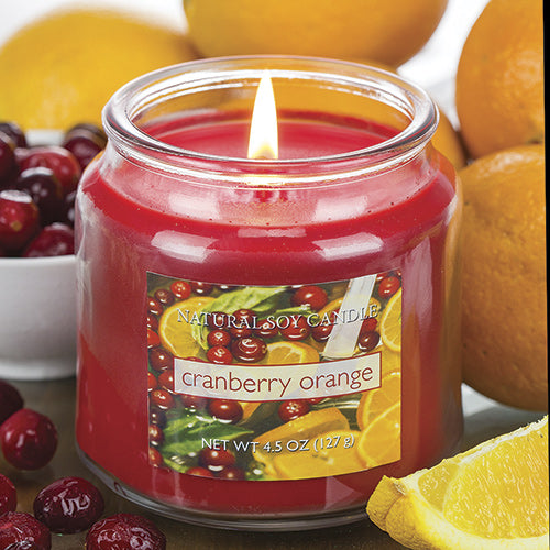 Cranberry Orange Scented Natural Soy Candle