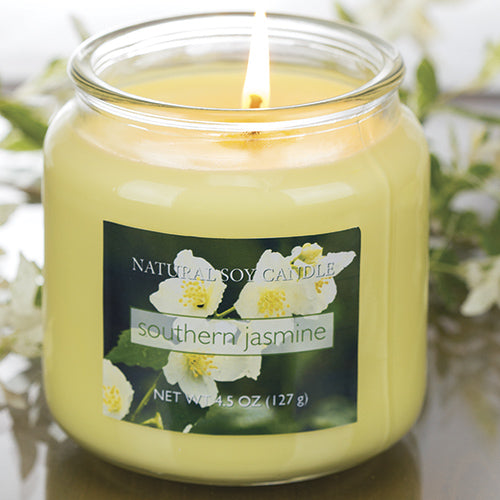 Southern Jasmine Scented Natural Soy Candle
