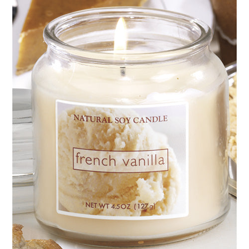 French Vanilla Scented Natural Soy Candle