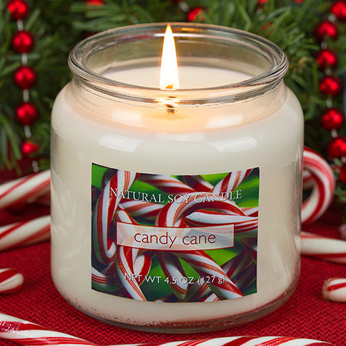 Candy Cane Scented Natural Soy Candle
