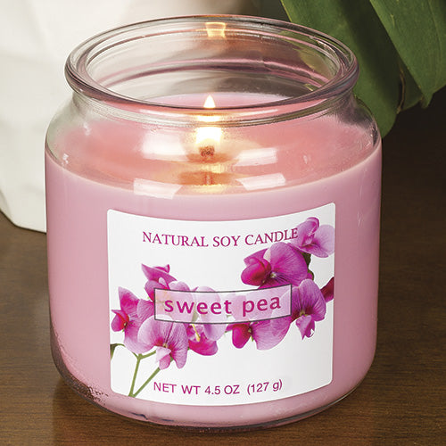Sweet Pea Scented Natural Soy Candle