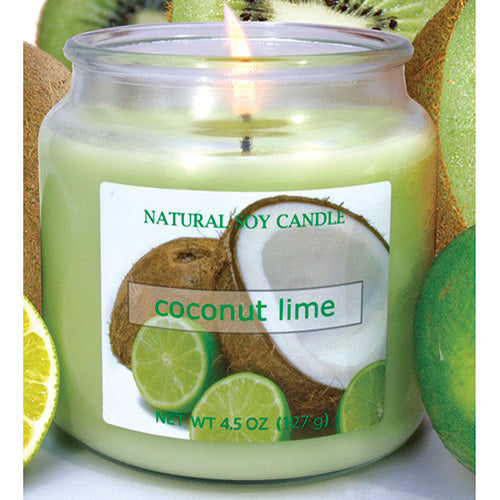 Coconut Lime Scented Natural Soy Candle
