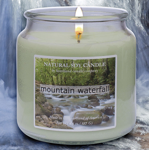 Mountain Waterfall Scented Natural Soy Candle