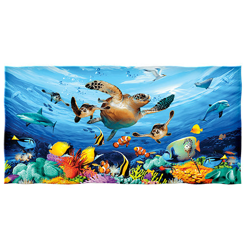 Journey of the Sea Turtles Beach and Shower Towel