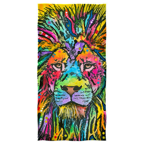 Lion Beach and Shower Towel by Dean Russo