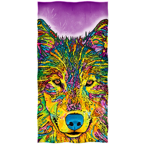 Wolf Beach and Shower Towel by Dean Russo
