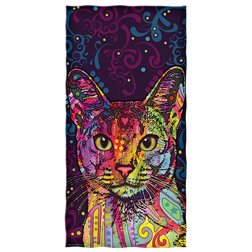 Confident Cat Beach and Shower Towel by Dean Russo