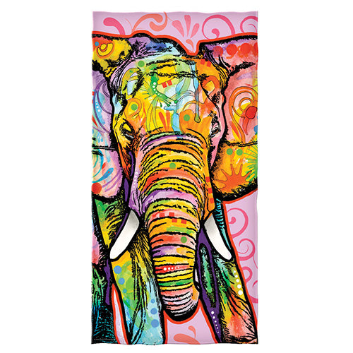 Elephant Beach and Shower Towel by Dean Russo