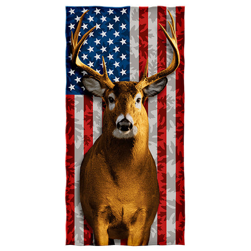 American Whitetail Deer Beach and Shower Towel