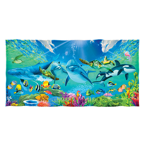 Underwater Paradise Beach and Shower Towel